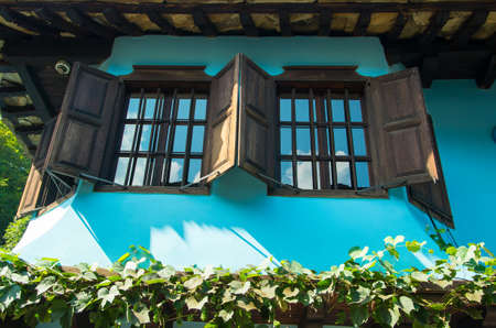 Attractive old house from Bulgaria. Tourist attraction. Stock Photo