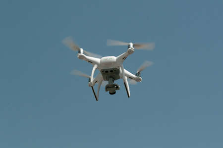 drones: Drone for video. Aerial photographs of images and video. Stock Photo