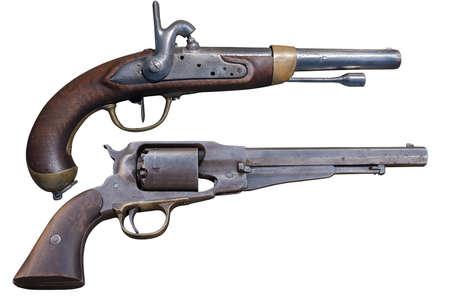 Antique gun pistol Stok Fotoğraf