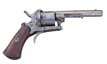 old collection of antique revolver Stok Fotoğraf