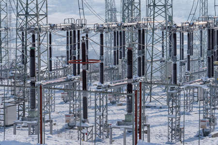 Power substation in the winter. Price forecasts