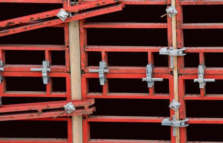 Steel shuttering. Construction of concrete formwork