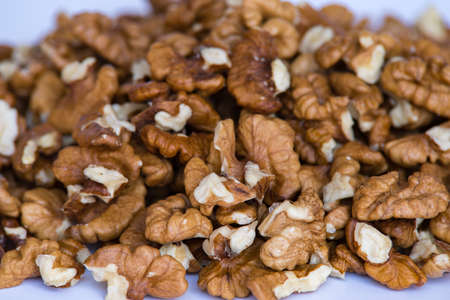 Organic walnuts kernels 스톡 콘텐츠