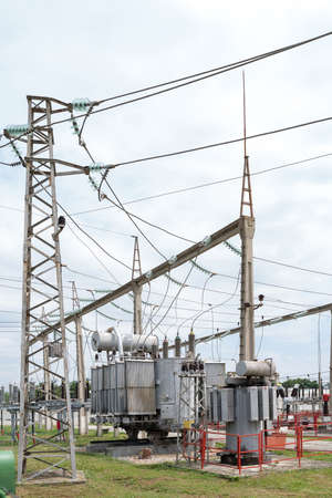 Small town electrical substation