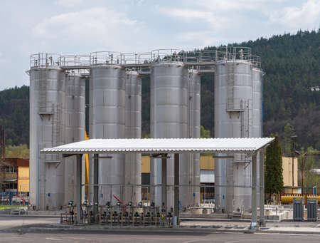 Storage silos in a chemical products