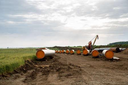 Construction works for pipeline Balkan Stream in Bulgaria Standard-Bild