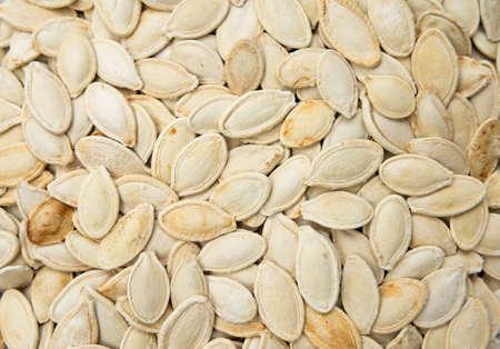 Roasted pumpkin seeds with salt.