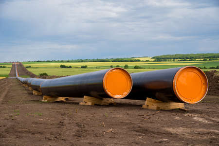 Construction works for gas-transmission pipeline