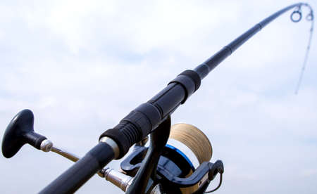 fishing rod and reel 版權商用圖片