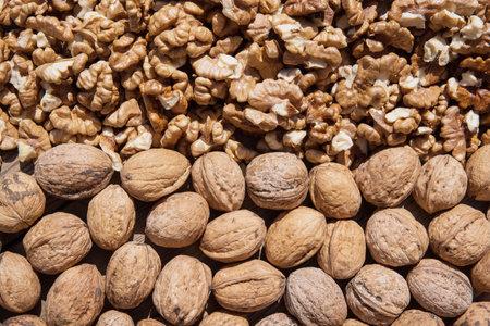 Walnut kernels and whole walnuts