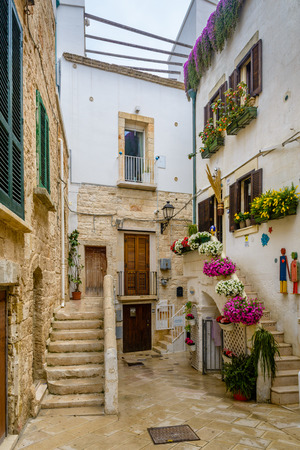 An alley in Polignano a Mare, Puglia, Italy