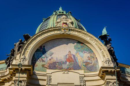 The colourful City hall in Prague, Czech Republic Reklamní fotografie