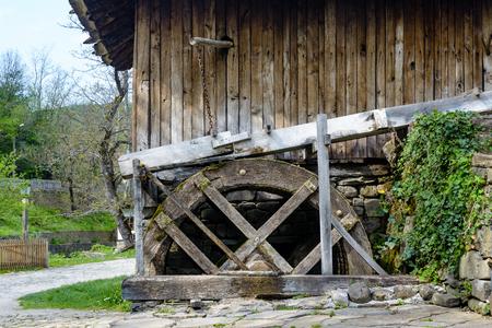 waterwheel: Side view of an old water mill in Etar, Gabrovo, Bulgaria