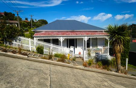 Baldwin street - the steepest street in the world, Dunedin, New Zealand