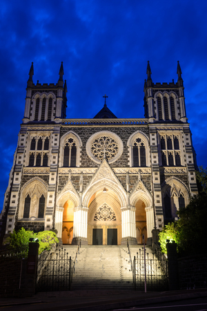 st  joseph: St. Josephs Cathedral at night, Dunedin, New Zealand