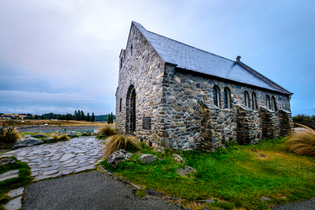 The Church of The Good Shepherd shot just after sunset, Lake Tekapo, New Zealand