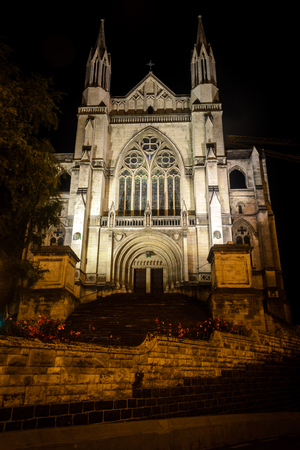 St. Pauls Cathedral at night, Dunedin, New Zealand