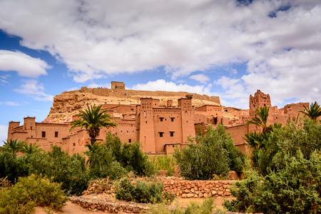 Panoramic photo of Ait Benhaddou, Morocco - UNESCO world heritage