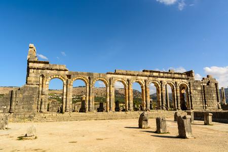 Volubilis - partly excavated Roman city, Meknes, Morocco. Reklamní fotografie