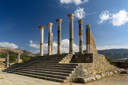 Volubilis (UNESCO world heritage) - partly excavated Roman city, Meknes, Morocco.