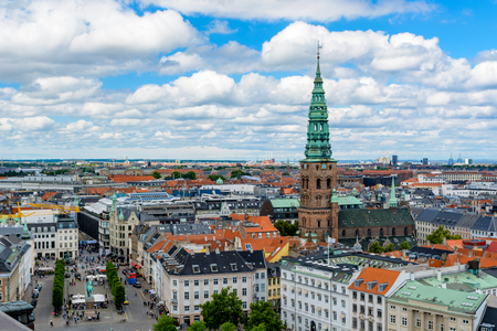 Aerial view of Copenhagen, Denmark Reklamní fotografie