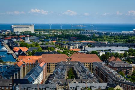 Aerial view of Copenhagen, Denmark.