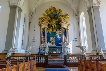 The interior of Church of Our Saviour in Copenhagen, Denmark