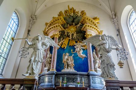 The interior of Our Saviour's Church in Copenhagen, Denmark