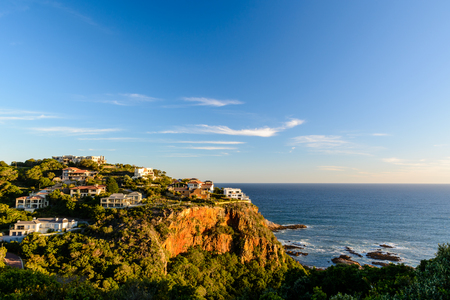 Luxury houses on Knysna Head with brilliant ocean view. Shot before sunset in Knysna, South Africa