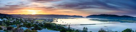A panorama of Knysna lagoon at sunrise, South Africa Reklamní fotografie