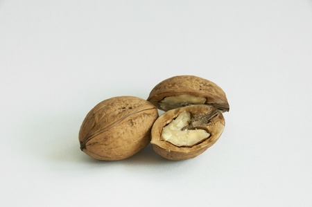 One walnut and one separated Stock Photo - 9732893