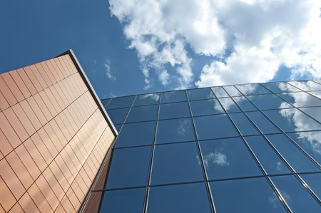 corporation: Office building on a background of the blue sky Stock Photo