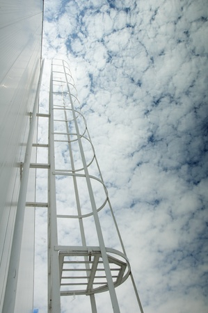 Ladder to the sky. Concept of success photo