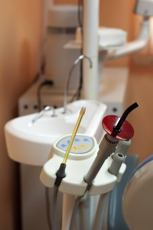 Dental equipment and sink. photo