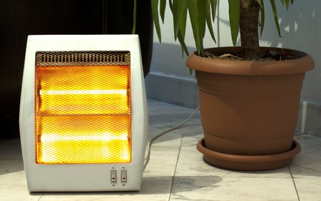 Electric heater and Pot close up photo