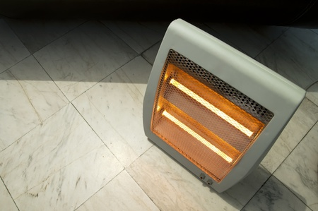 Electric heater close up photo