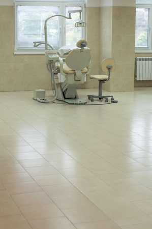 Dental office and equipment. Student hall for practical training Stock Photo - 11114390