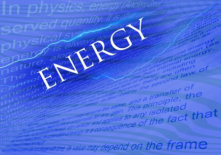 solarenergy: Text Energy on blue background with texs about energy