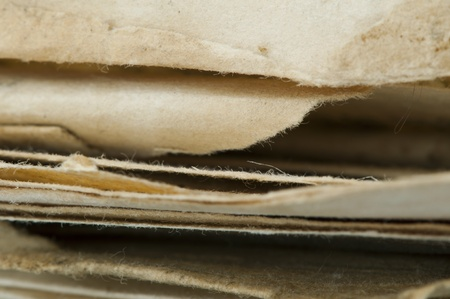 oldish: Old worn paper sheets of book