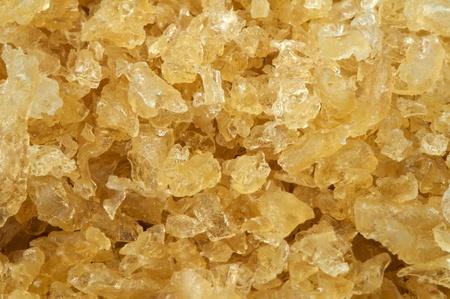 gelatin: Cooking gelatin yellow crystals closeup Stock Photo