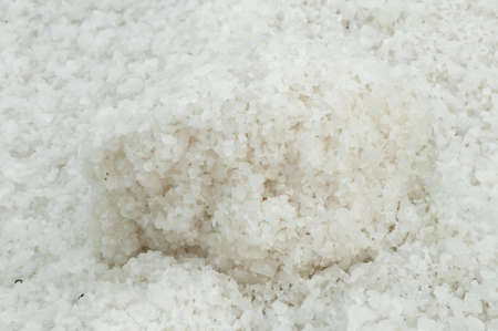 Pile of salt closeu on sea ​​saltern photo