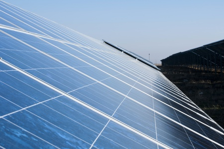 Solar photovoltaic panels. Solar park Stock Photo - 11803209