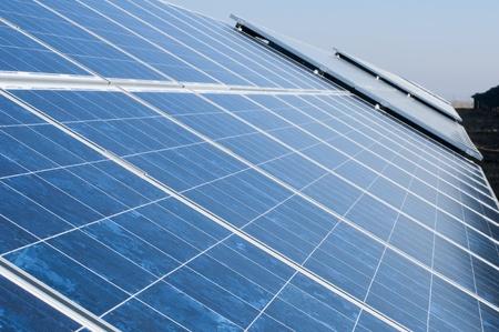 photocell: Solar photovoltaic panels. Solar park