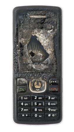 Burned GSM. Display and buttons close up Stock Photo - 11857364