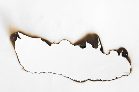 bordi: Bruciato carta e vicino foro
