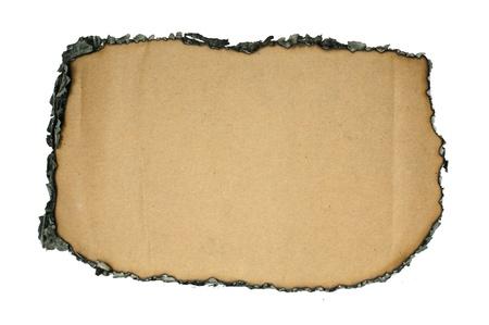papel quemado: Papel quemado en los bordes