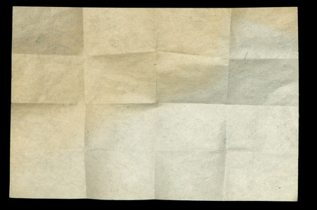Old crumpled paper. Paper texture photo