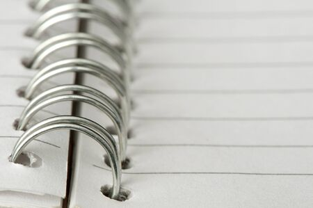 Spiral notebook very close up Stock Photo - 11857561
