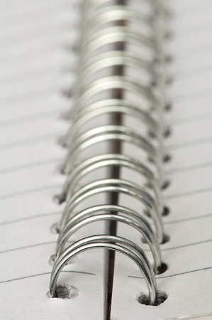 Spiral notebook very close up Stock Photo - 11857577