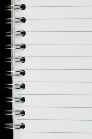 Spiral notebook very close up Stock Photo - 11857528